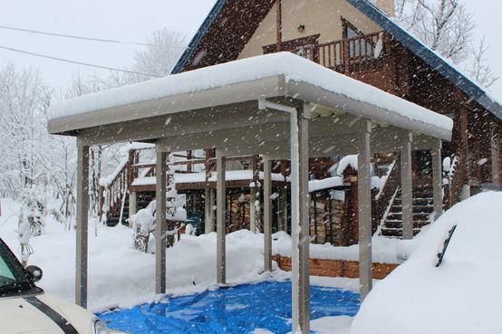 白馬村 耐雪150㎝カーポート